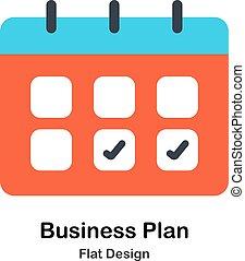 Plan de negocios de ilustración plana