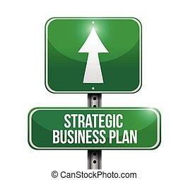 Plan de negocios estratégicos ilustraciones de carteles