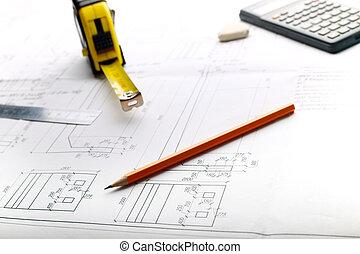 Plan - dibujar en la mesa