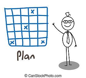 plan, hombre de negocios