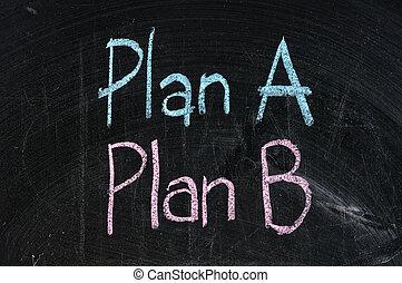 plan, tabla, símbolo, empresa / negocio, negro, alternativa, planificación, aislado, estrategia, opción, b