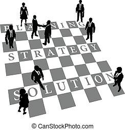 Planeando la solución de estrategia para el ajedrez humano