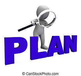 planes, objetivos, carácter, planificación, plan, organizador, exposiciones