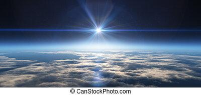 Planet Sunrien del espacio