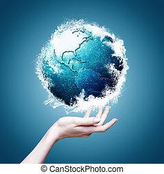 Planeta Azul, antecedentes ambientales abstractos para tu diseño