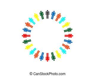 planeta, conexión, colorido, empresa / negocio