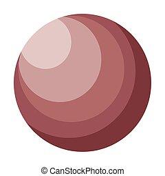 Planeta de dibujos animados Venus ilustración vectorial de fondo blanco.
