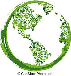 Planeta Eco concepto: 2