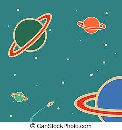 Planeta en el espacio.