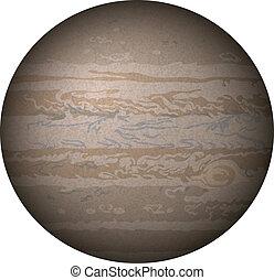Planeta Júpiter, aislado en blanco
