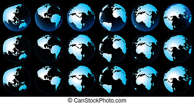 Planeta mapa terrestre