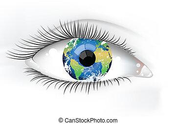 Planeta ojo desaturado