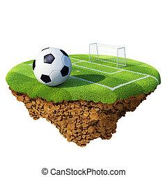 planeta, poco, concepto, basado, meta, área, isla, planet., campeonato, /, pena, collection., pelota, diminuto, campo, equipo, futbol, liga, design.