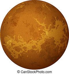 Planeta Venus, aislado en blanco