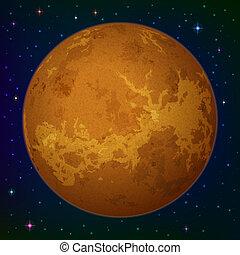 Planeta Venus en el espacio