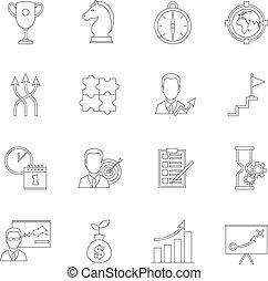 Planificación de icono de estrategia de negocios