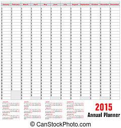 planificador, horario, anual, -, 2015, tabla