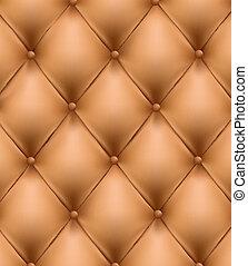 plano de fondo, button-tufted, marrón