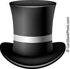 plano de fondo, clásico, sombrero, cilindro, blanco