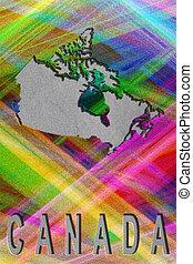 plano de fondo, colorido, mapa, canadá