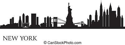 plano de fondo, contorno, ciudad, york, nuevo, silueta