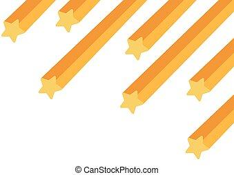 plano de fondo, estrella, disparando, blanco