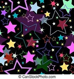 plano de fondo, estrellas, (vector), seamless