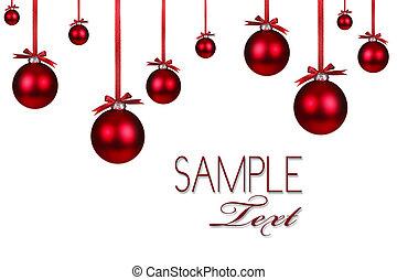 plano de fondo, feriado, navidad, rojo, ornamento