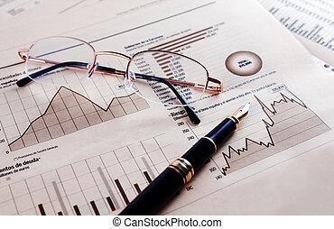 plano de fondo, financiero, economía
