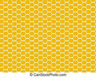 plano de fondo, formas, geométrico, hexágonos, vector, blanco, patrón, seamless, panal, amarillo, mosaico, miel
