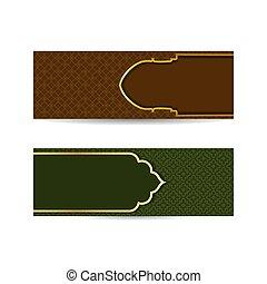 plano de fondo, gradient., decoración, empresa / negocio, verde, islámico, marco, arte, ornamento, deco, islam, plantilla, cultura, árabe, dorado, banner., oro, rojo