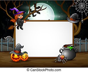 plano de fondo, halloween, señal, noche, blanco