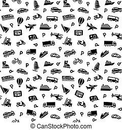 plano de fondo, iconos, seamless, transporte, papel pintado