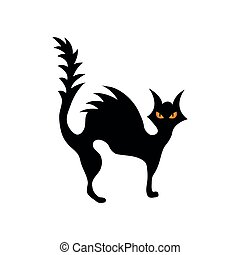 plano de fondo, ilustración, gato, aislado, silueta, blanco, vector