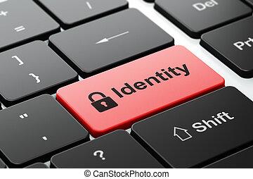 plano de fondo, intimidad, candado, computadora, identidad, cerrado, teclado, concept: