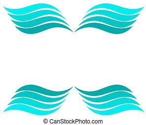 plano de fondo, ondas