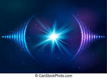 plano de fondo, ondas, sonido, cósmico