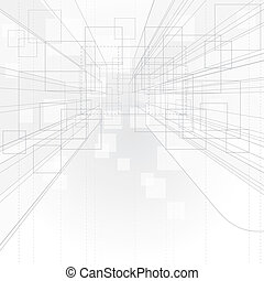 plano de fondo, perspectiva, contorno