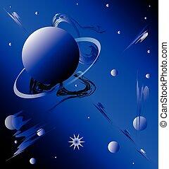 plano de fondo, planetario, fantástico, motivo, cielo