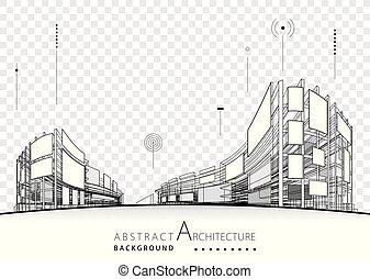 plano de fondo, resumen, arquitectónico, diseño de edificio