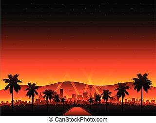 plano de fondo, rojo, cityscape, alfombra, película, hollywood