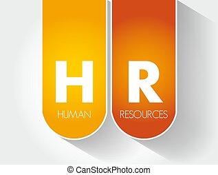 plano de fondo, siglas, -, humano, hora, concepto, recursos, empresa / negocio