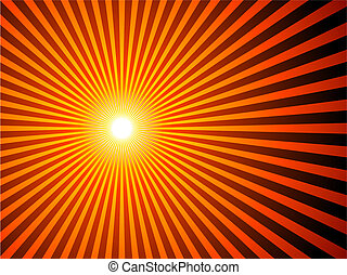 plano de fondo, sunburst