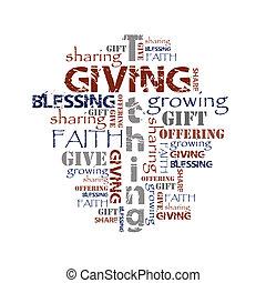 plano de fondo, tithing, dar