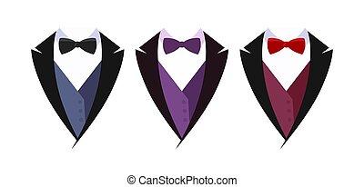 plano de fondo, traje, blanco, conjunto, aislado, empresa / negocio, logotype