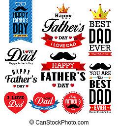plano de fondo, typographical, feliz, día, padre