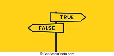 plano de fondo, vector, false., verdad, bandera, camino, amarillo, o, crossroads., poste indicador, negro
