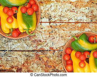 plano de fondo, vegetales, de madera