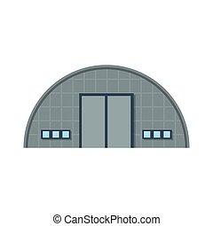 plano, edificio, almacén
