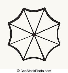 Plano en blanco y negro aplicación móvil un paraguas